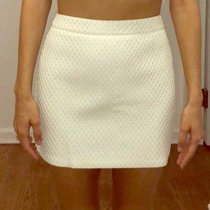 Express White Honeycomb Skirt